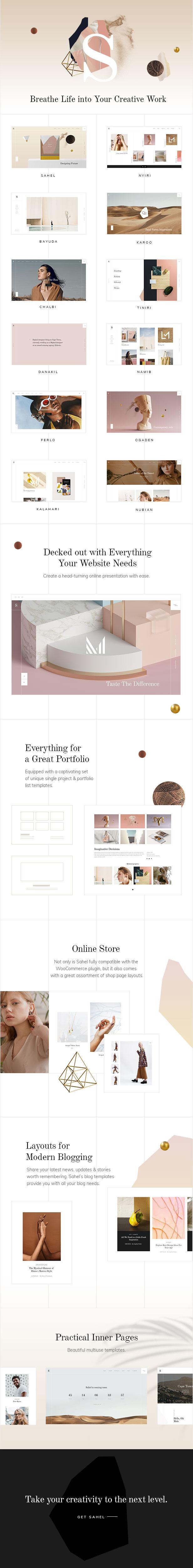 WordPress theme Sahel - An Elegant Multi-Concept Theme (Portfolio)